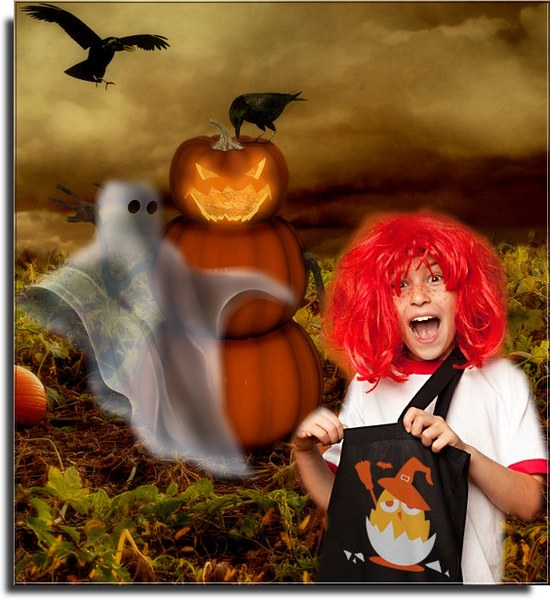 Halloween ici trouille T-shirt chic et choc