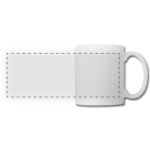Mug panoramique blanc T-shirt chic et choc