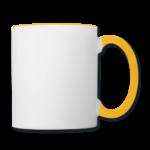 Mug panoramique contrasté blanc et jaune T-shirt chic et choc