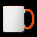 Mug panoramique contrasté blanc et orange T-shirt chic et choc