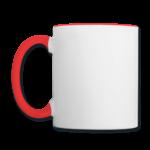 Mug panoramique contrasté blanc et rouge T-shirt chic et choc