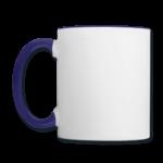 Mug panoramique contrasté blanc et bleu cobalt T-shirt chic et choc