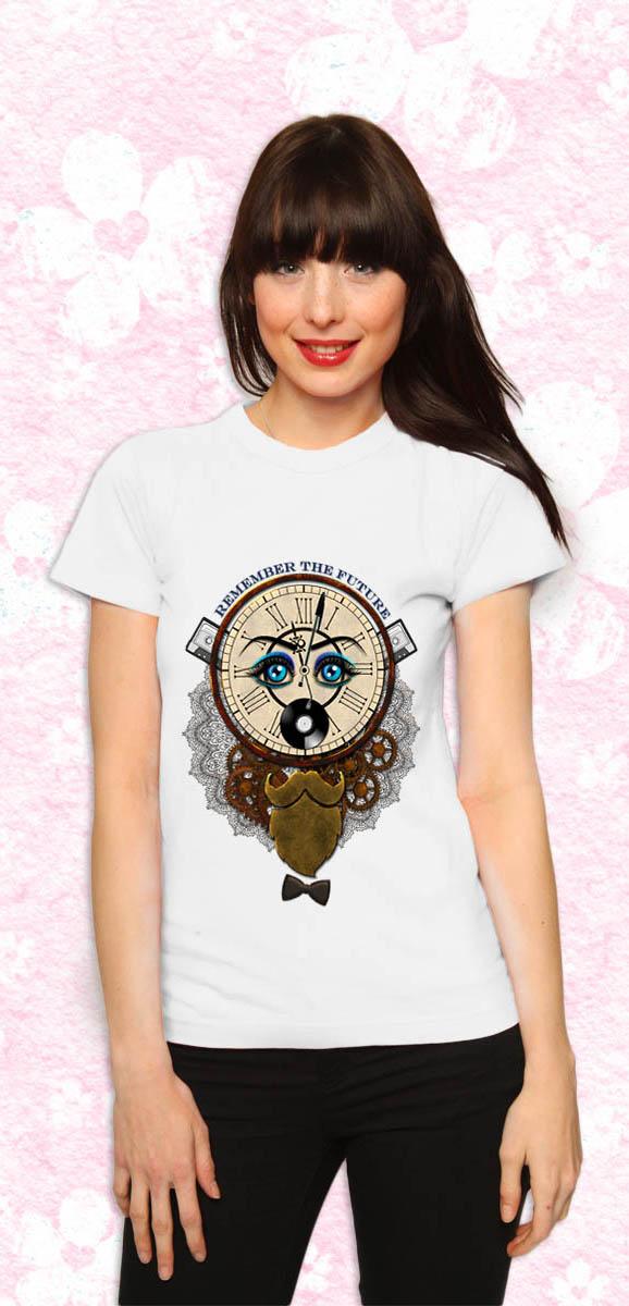Remember the future sur Tee shirt classique pour femme couleur blanc T-shirt chic et choc