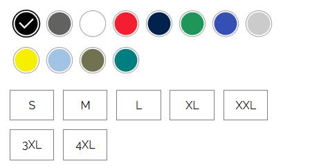 T-shirt coupe classique pour hommes, 100 % coton - couleurs