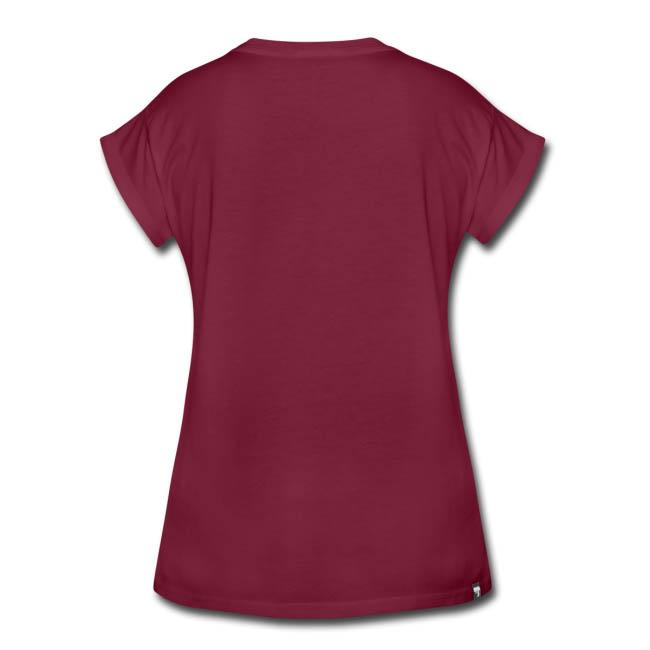 T-shirt oversize Femme 100 % coton - vue dos