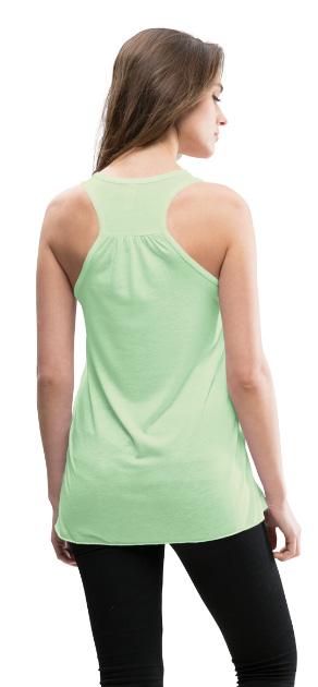 Débardeur pour femme légèrement fluide, dos nageur de Bella couleur vert menthe