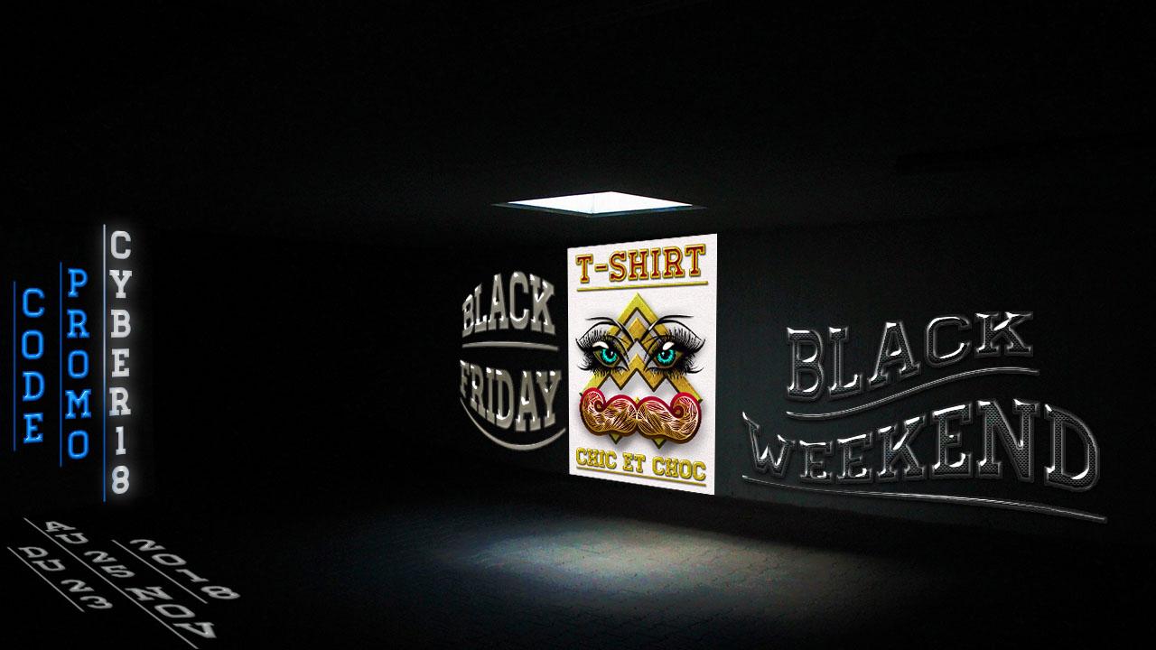 Site T-shirt chic et choc Black Friday réduction offre marque et promo sur vêtements pour bébés, hommes et femmes