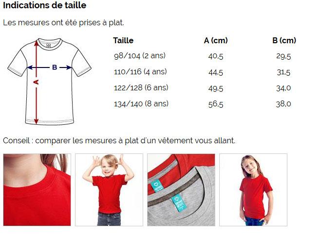 T-shirt Premium Enfant fille garçon - Taille
