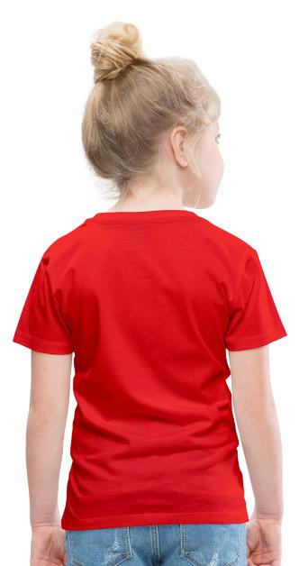T-shirt Premium Enfant fille garçon couleur rouge vue dos