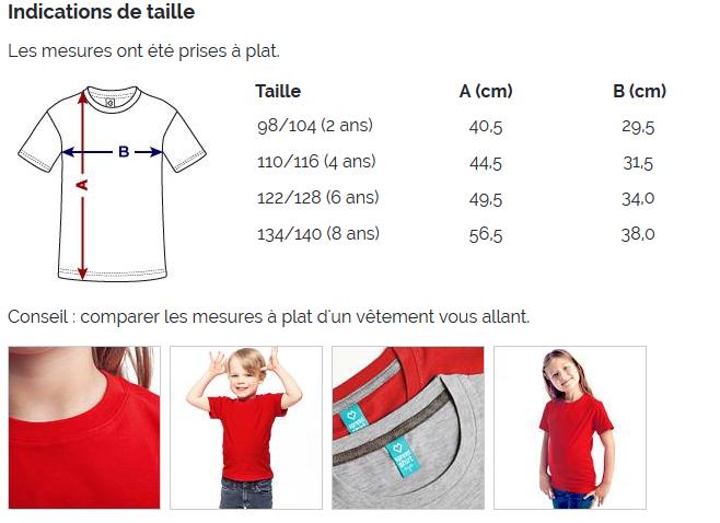 T-shirt Premium unisexe Enfant - Taille