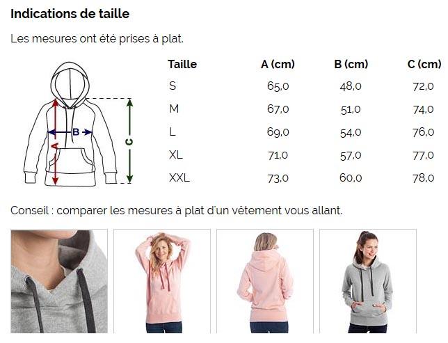 T-shirt chic et choc black friday - Sweat-shirt à capuche pour femmes - taille