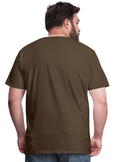 T-shirt coupe classique pour hommes 100 % coton couleur bistre - vue dos