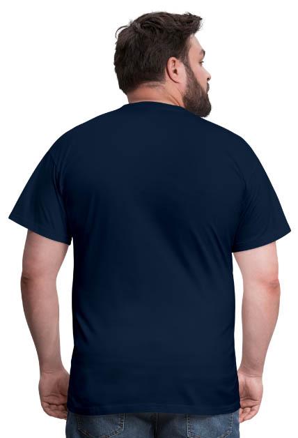 T-shirt coupe classique pour hommes 100 % coton vue dos couleur marine