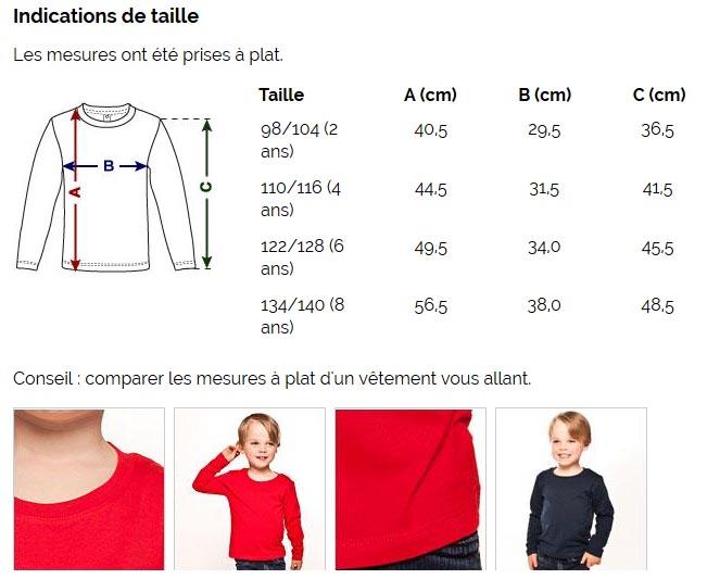 T-shirt manches longues Premium Enfant - taille