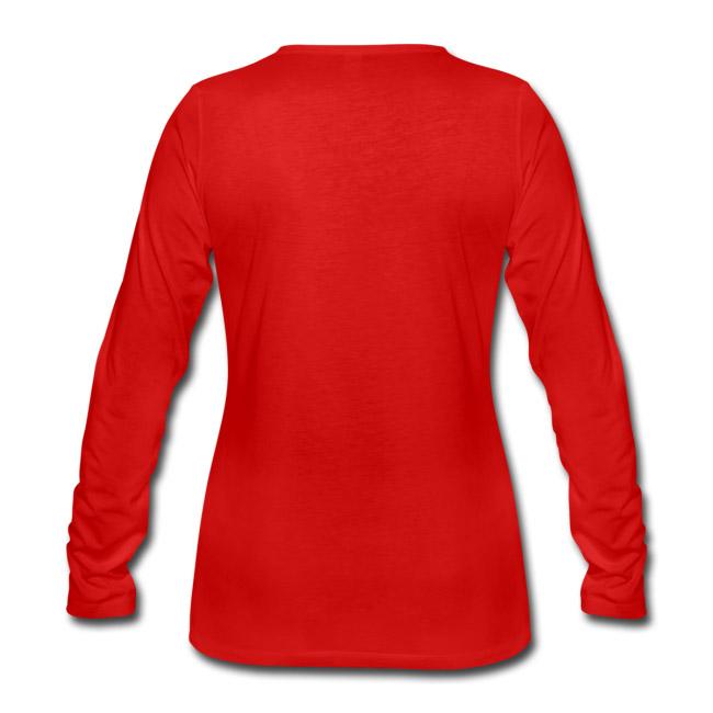 T-shirt manches longues Premium Femme couleur rouge vue dos