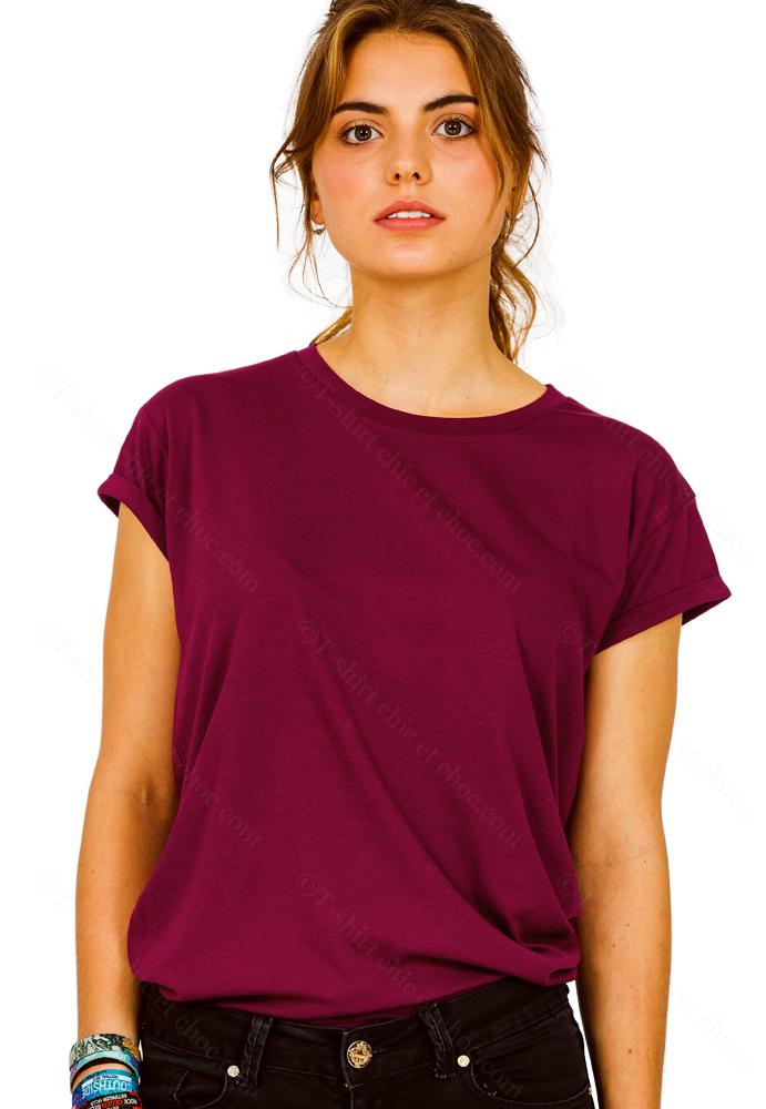 T-shirt oversize Femme 100 % coton hi5