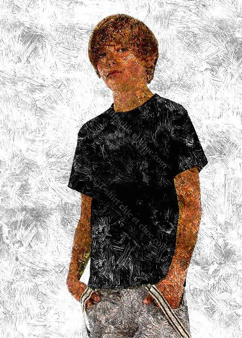 T-shirt pour ados 100 % coton marque B&C couleur noir