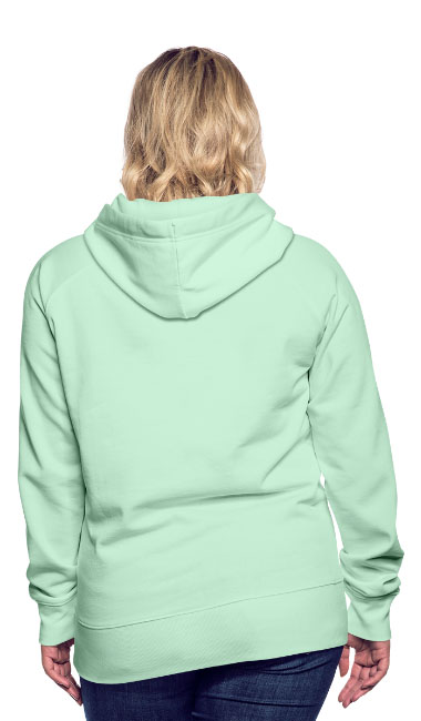 T-shirt chic et choc - Sweat-shirt à capuche pour femmes couleur vert clair menthe vue dos