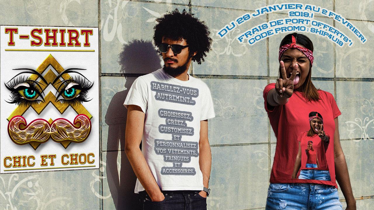 T-shirt chic et choc code promotion tshirtchicetchoc Janvier 2019