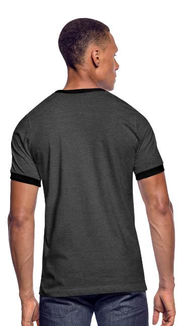 T-shirt rétro coupe près du corps - vue dos - tshirtchicetchoc