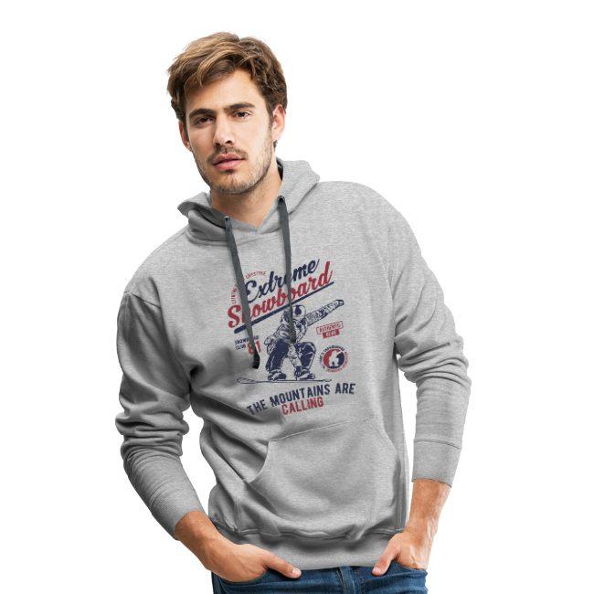 Extreme Snowboard fans sur Sweat-shirt à capuche Premium pour hommes - tshirtchicetchoc