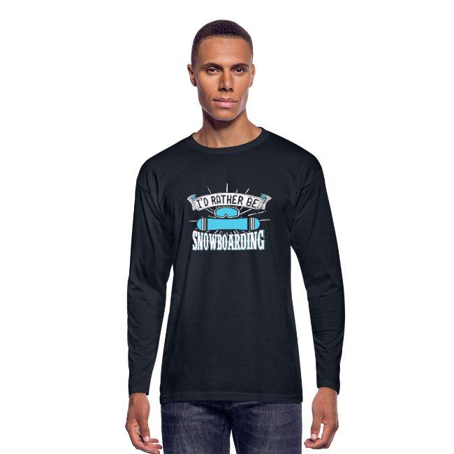 Je préférerais faire du snowboard sur T-shirt manches longues Homme - tshirtchicetchoc