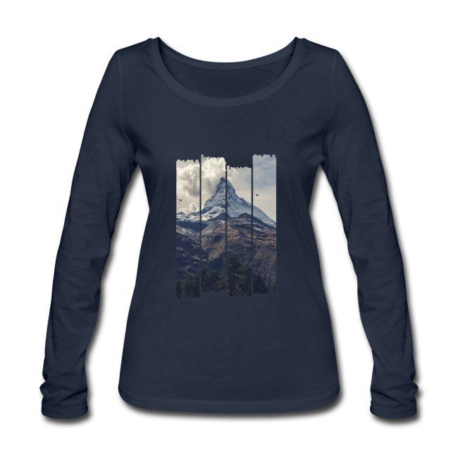 Nature et montagnes sur T-shirt manches longues bio Stanley & Stella Femme - tshirtchicetchoc