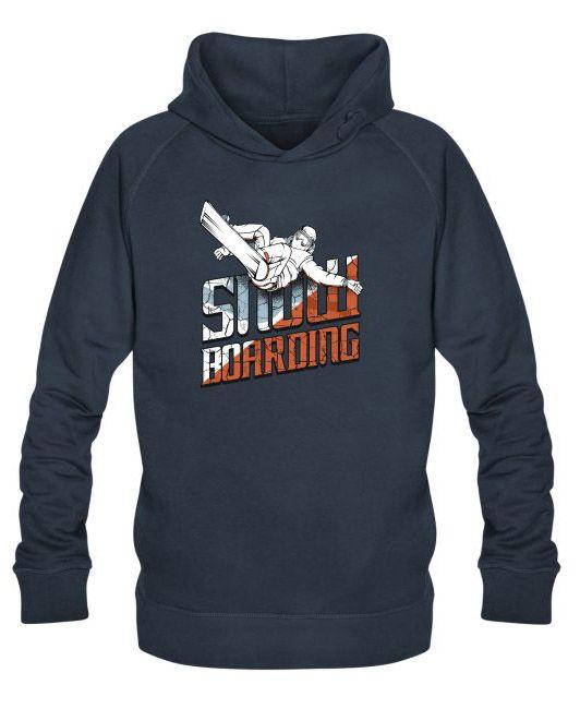 Snowboarding surf des neiges sur Sweat-shirt à capuche bio Stanley & Stella Homme - tshirtchicetchoc