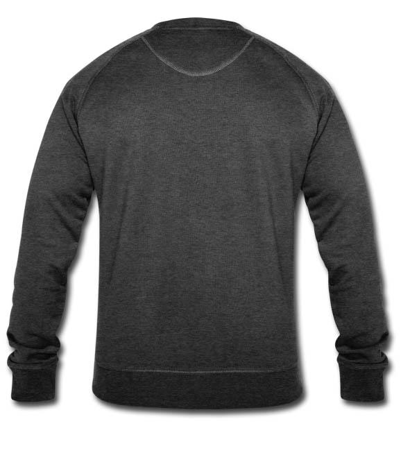 Sweat-shirt bio Stanley & Stella Homme couleur charbon chiné - vue dos