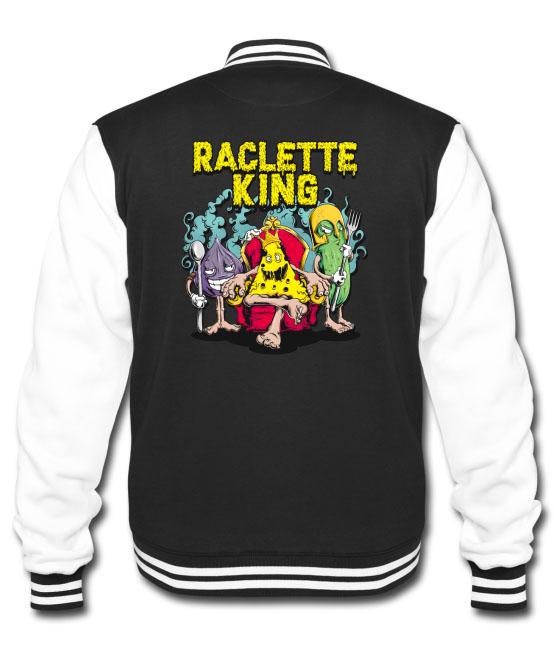 Veste Teddy pour hommes design Raclette King - tshirtchicetchoc