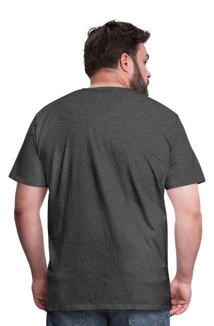 T-shirt Premium coupe classique pour hommes couleur charbon - vue dos - tshirtchicetchoc