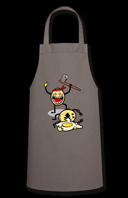 Bataille d'oeufs et oeuf battu sur Tablier de cuisine, 100 % coton couleur gris