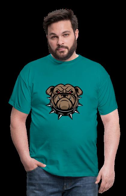 Bouledogue anglais sur T-shirt coupe classique pour hommes, 100 % coton