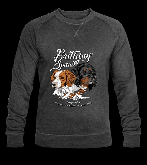 Brittany SpanielÉpagneul breton sur Sweat-shirt bio Stanley & Stella Homme