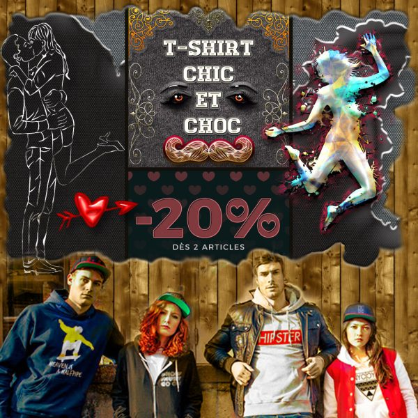 Code Promo saint Valentin T-shirt chic et choc