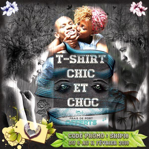 Frais de port offert T-shirt chic et choc
