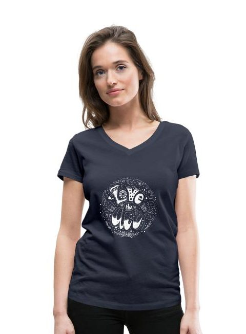 T-shirt bio col V Stanley & Stella Femme love in the air - L'amour est dans l'air