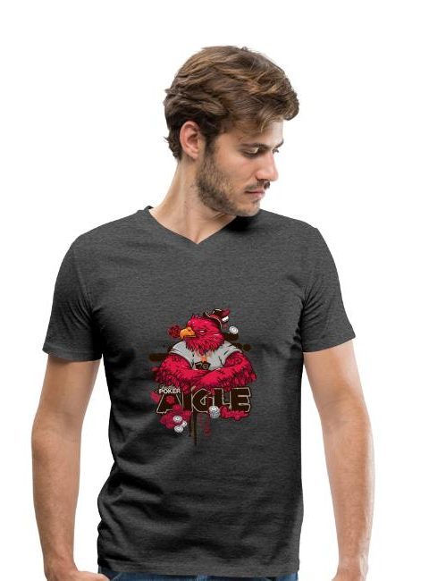 T-shirt bio col V Stanley & Stella Homme AIGLE ROUGE