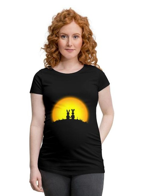 T-shirt de grossesse avec fronces élastiques pour femmes