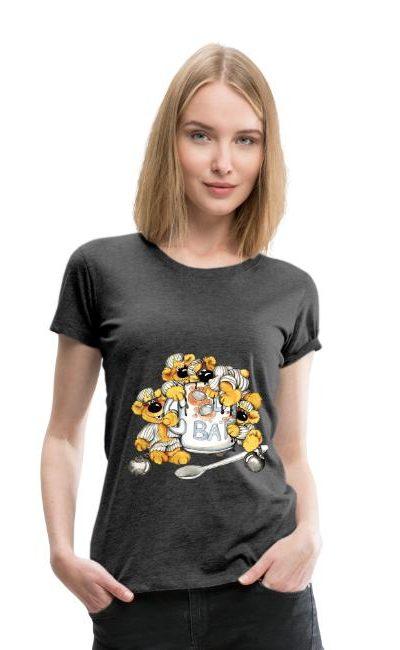 T-shirt légèrement cintrée pour femmes, 100 % coton, marque Spreadshirt
